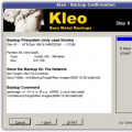 Kleo Backup Confirmation